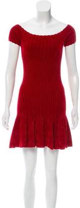 Ronny Kobo Velvet Mini Dress
