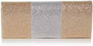 JEM Swankyswans Womens Sparkle Color Block Clutch