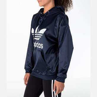 adidas Women's Trefoil Satin Hoodie