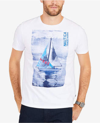 Nautica Men's Big & Tall Sailboat Graphic T-Shirt