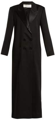 Marques Almeida MARQUES'ALMEIDA Peak-lapel long-line wool tuxedo coat
