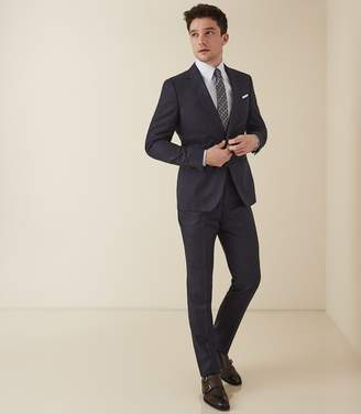 Reiss HUGO Single Breasted Pinstripe Suit Airforce Blue