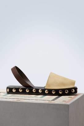 Loewe Slingblack studs sandals