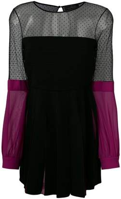 Capucci colour-block shift dress