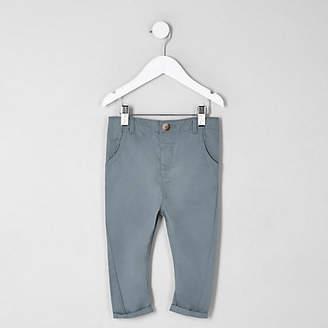 River Island Mini boys blue slim fit chino pants