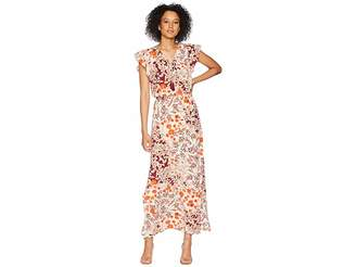 Adrianna Papell Cap Sleeve Maxi Dress