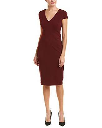 Donna Morgan Women's Cap Sleeve Stretch Crepe Sheath Dress