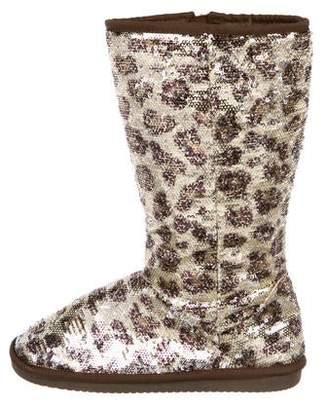 Stuart Weitzman Sequin Mid-Calf Boots
