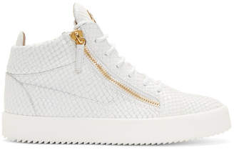 Giuseppe Zanotti White Snake May London Gigas High-Top Sneakers
