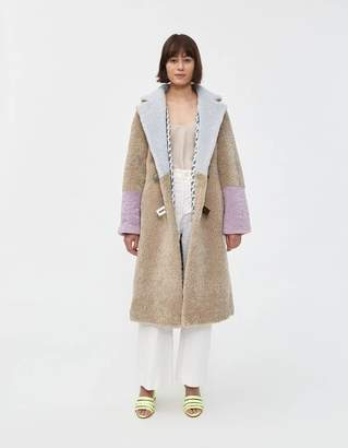 Saks Potts Febbe Pastel Shearling Coat