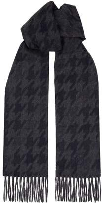 Canali Houndstooth Cashmere Scarf