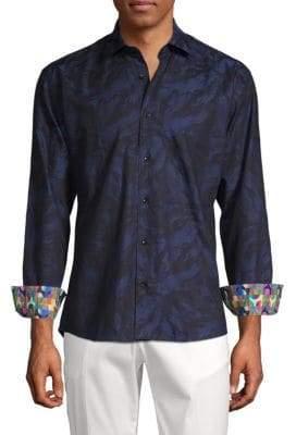 Contrast Button-Down Shirt