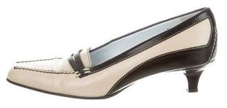 Tod's Leather Square-Toe Pumps