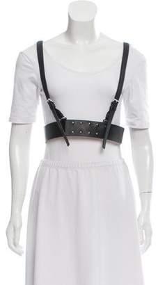 Herve Leger Leather Harness Vest