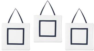 JoJo Designs White and Navy Modern Hotel Wall Hanging Accessories by Sweet