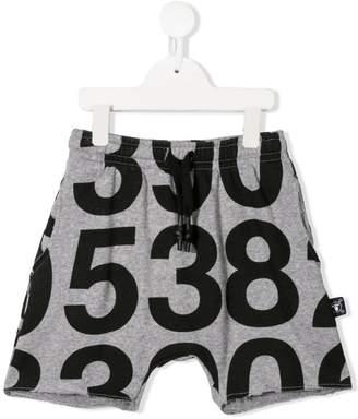 Nununu number print shorts