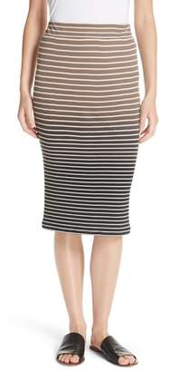 ATM Anthony Thomas Melillo Dip Dye Stripe Skirt