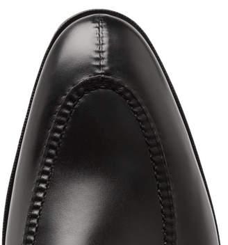 Edward Green Clapham Leather Monk-Strap Shoes