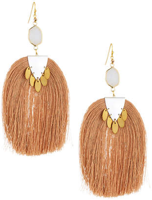 Nakamol Moonstone & Tassel Drop Earrings