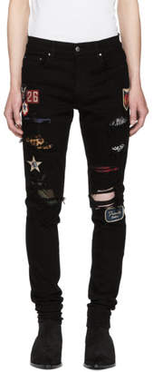 Amiri Black Art Patch Painted Jeans