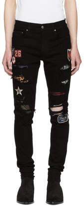 Amiri Black Art Patch Painted Jeans