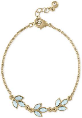 Rachel Roy Gold-Tone Colored Stone Leaf Flex Bracelet