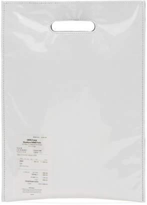 Maison Margiela White PVC and Paper Receipt Tote