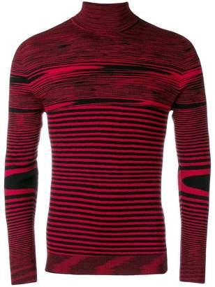 Missoni stripe fitted turtleneck sweater