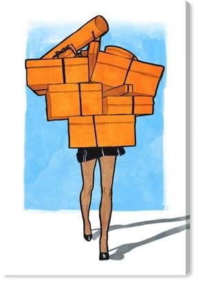 Oliver Gal Orange Box Canvas Wall Art