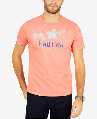 Nautica Men's Artist Series Palm Tree Logo-Print T-Shirt