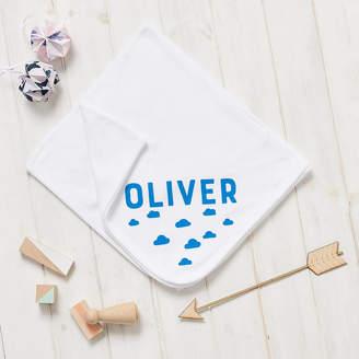 Owl & Otter Personalised New Baby Scandi Cloud Blanket
