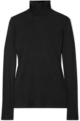 Akris Cashmere And Silk-blend Turtleneck Top - Black