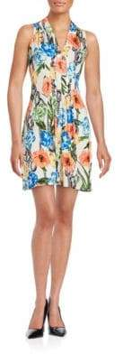 Catherine Malandrino Pleated Floral Dress