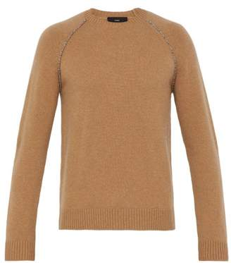 Alanui - Elbow Patch Cashmere Sweater - Mens - Brown