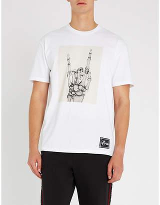 Bally x Shok-1 skeleton-print cotton-jersey T-shirt
