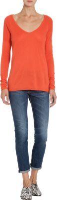 Barneys New York V-Neck Sweater