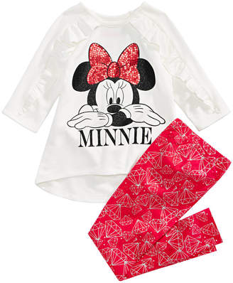 Disney Toddler Girls 2-Pc. Minnie Mouse Hacci Tunic & Leggings Set