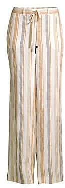 Lafayette 148 New York Women's Columbus Linen Stripe Wide Leg Pants