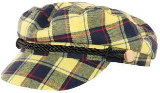 70e9b381f17 Missy Empire Missyempire Sally Yellow Tartan Baker Boy Hat