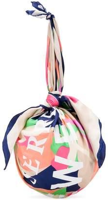 Marine Serre ball scarf clutch bag