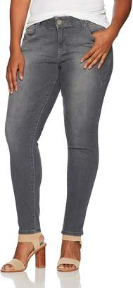 """Democracy Women's Plus Size 30/10"""" Ab Solution Jegging Gy"""