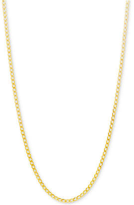 """Italian Gold Curb Link Chain 22"""" Necklace (2-1/3mm) in 10k Gold"""
