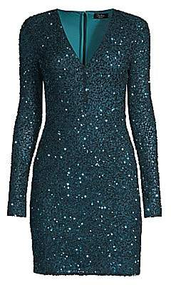 Parker Black Women's Malaga Sequin V-Neck Bodycon Dress