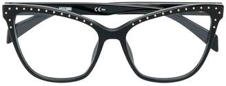 Moschino cat-eye shaped glasses