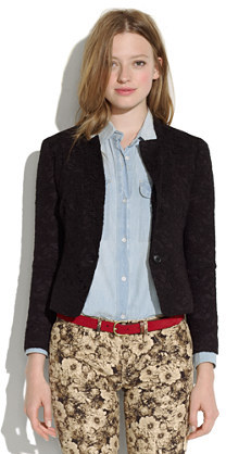 Madewell Cropped lace blazer