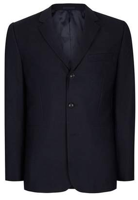 Topman Mens Blue CHARLIE CASELY-HAYFORD X Navy Ribbed Relaxed Fit Weekend Suit Jacket