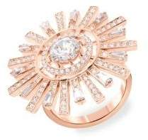 Swarovski Sunshine Rose Gold Crystal Cocktail Ring
