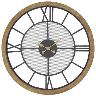 Uma Enterprises Rustic Reflections Wood Round Wall Clock