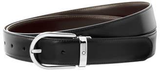 Montblanc Horseshoe-Buckle Reversible Leather Belt