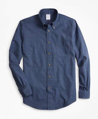Brooks Brothers Regent Fit Glen Plaid Flannel Sport Shirt
